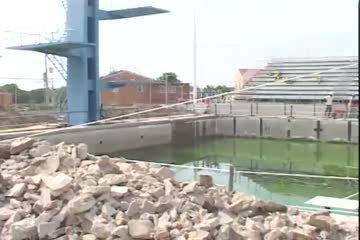 Repair Work Underway For National Stadium Diving Pool