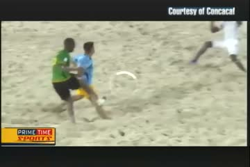Jamaica Through to Quarter Finals in Beach Soccer Championships